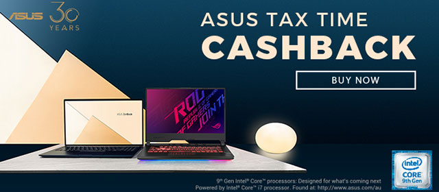 Asus Tax Time Cashback Promo 2019