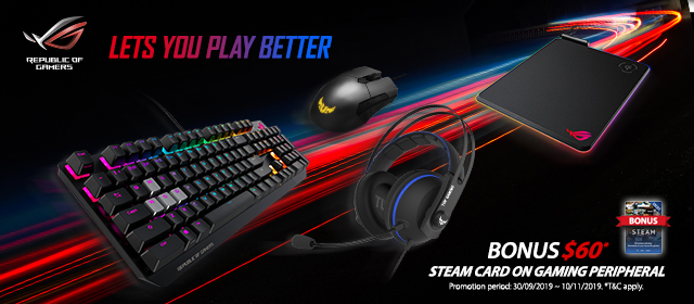 Asus Peripherals Steam Card Promo 2019