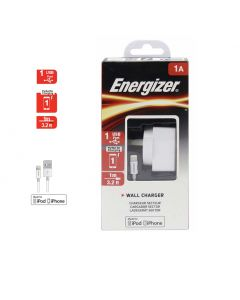 Energizer 1A Wall Charger with Lightning  Cable