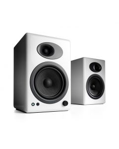 Audioengine A5+ Powered Bookshelf Speakers - High Gloss White
