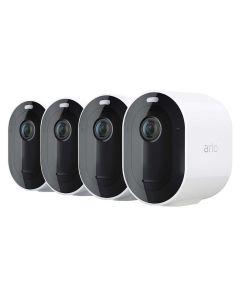 Arlo Pro 4 VMC4450P-100AUS Wire Free Spotlight Camera 2k HDR 4 Camera Pack