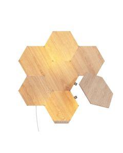 Nanoleaf Elements Wood Look Hexagons Starter Kit - 7 Pack