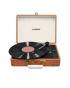 mbeat Woodstock Retro Turntable Recorder with Bluetooth & USB Direct Recording