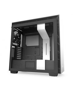 NZXT H710i Smart Gaming E-ATX Mid Tower Computer Case - Matte White/Black