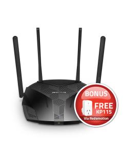 Mercusys MR70X AX1800 Dual-Band WiFi 6 Router Bonus Smart WiFi Plug Slim