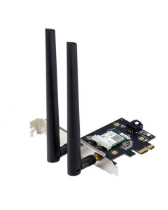 ASUS PCE-AX3000 Dual Band PCI-E Wireless Adapter with WiFi 6 (802.11ax) 160MHz Bluetooth 5.0 MU-MIMO