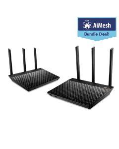 Asus RT-AC67U AiMesh AC1900 Whole Home WiFi System Twin Pack