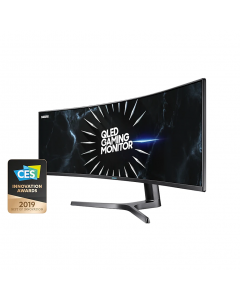 Samsung CRG9 49in 120Hz FreeSync2 Dual QHD Ultra-Wide Curved Gaming VA QLED Monitor LC49RG90SSEXXY
