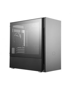 Cooler Master Silencio S400 mATX PC case with seamless glass side panel