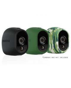 Arlo Replaceable Resistant Black Green Camouflage Silicone Skin - 3 Pack VMA1200-10000S