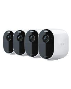 Arlo VMC2030-100AUS Essential Spotlight 1080P HD Color Night Vision Indoor/Outdoor Camera 4 Pack