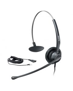 Wideband Headset for Yealink IP Phone RJ9 Connection Over the Head Mono Noise Cancelling Microphone