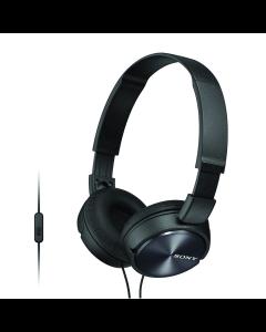 Sony ZX310AP Folding On-Ear Headphones - Black
