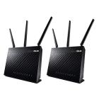 Asus RT-AC68U AiMesh 2 Pack AiMesh AC1900 Whole Home WiFi System