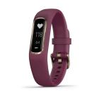 Garmin Vivosmart 4 Activity Smartwatch - Merlot/Gold (Small/Medium)