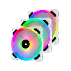 Corsair WHITE LL120 RGB 120mm - 3 Fan Pack with Lighting Node PRO