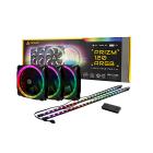 Antec Prizm 120 ARGB 3+2+C Pack includes 3x120mm RGB PWM Fan 2xLED Strip 1xController