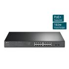 TP-Link TL-SG1218MPE JetStream 16-Port Gigabit Easy Smart PoE/PoE+ Switch