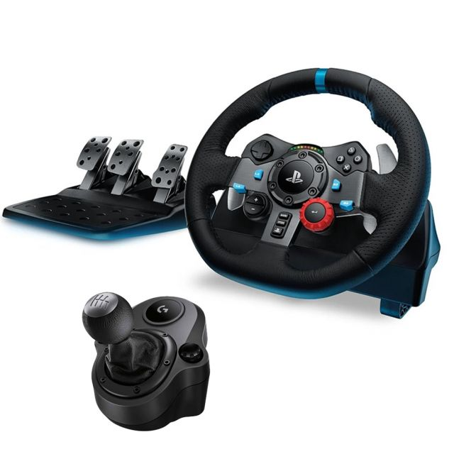 Logitech G29 Driving Force Racing Wheel For PS4 / PC + Shifter Bundle