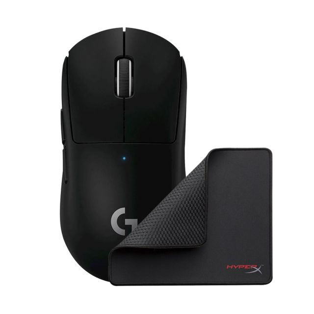 Logitech G PRO X SUPERLIGHT Wireless Gaming Mouse - Black + BONUS Mouse Pad
