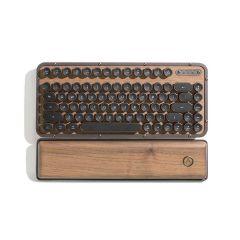 AZIO RETRO CLASSIC COMPACT Vintage Typewriter Bluetooth & USB Mechanical Keyboard - ELWOOD