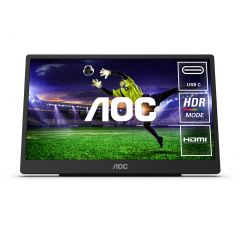 AOC 16T2 15.6inch FHD 10-Point Touch IPS Portable USB-C Powered Monitor