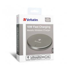 Verbatim Metallic Wireless Charger - Gray