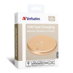Verbatim Metallic Wireless Charger - Gold