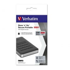 Verbatim USB 3.1 Store n Go Secure SSD w/Keypad Access 256GB - Black
