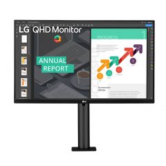 LG 27QN880-B 27inch QHD FreeSync USB-C IPS LED Monitor
