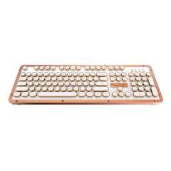 AZIO RETRO CLASSIC BT Vintage Typewriter Bluetooth Mechanical Keyboard - Alloy Leather Trim POSH