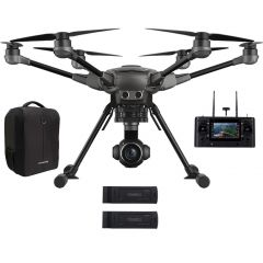 Yuneec Typhoon H Plus 4K Hexacopter Drone Bundle with Two Batteries and Backpack - Black