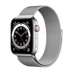 Apple Watch Series 6 44mm Silver Stainless Steel/Silver Milanese Loop GPS + Cellular