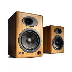 Audioengine A5+ Powered Bookshelf Speakers - Solid Bamboo