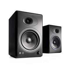 Audioengine A5+ Powered Bookshelf Speakers - Satin Black