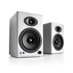 Audioengine A5+ Wireless Bookshelf Speakers - Hi-Gloss White