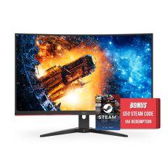AOC CQ32G2E 31.5in 144Hz QHD 1ms FreeSync VA Curved Gaming Monitor