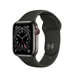 Apple Watch Series 6 40mm Graphite Stainless Steel/Black Sport Band GPS + Cellular