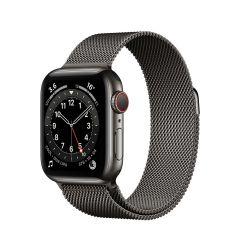 Apple Watch Series 6 40mm Graphite Stainless Steel/Graphite Milanese Loop GPS + Cellular