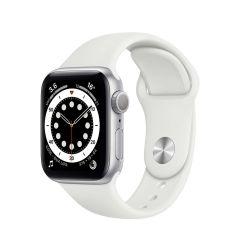 Apple Watch Series 6 40mm Silver Aluminium/White Sport Band GPS
