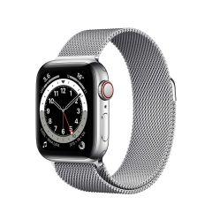 Apple Watch Series 6 40mm Silver Stainless Steel/Silver Milanese Loop GPS + Cellular