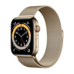 Apple Watch Series 6 44mm Gold Stainless Steel/Gold Milanese Loop GPS + Cellular