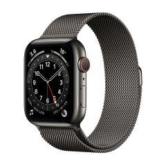 Apple Watch Series 6 44mm Graphite Stainless Steel/Graphite Milanese Loop GPS + Cellular