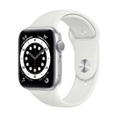 Apple Watch Series 6 44mm Silver Aluminium/White Sport Band GPS