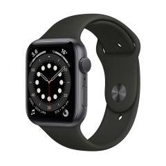 Apple Watch Series 6 44mm Space Gray Aluminium/Black Sport Band GPS