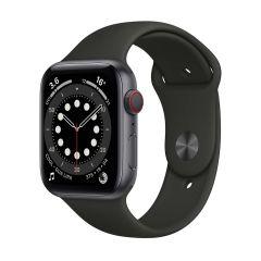 Apple Watch Series 6 44mm Space Grey Aluminium/Black Sport Band GPS + Cellular