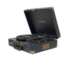 mbeat Woodstock 2 Black Retro Turntable Player