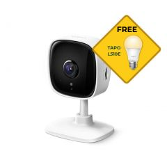 TP-Link Tapo C100 Home Security Wi-Fi Camera 1080P local storage Bonus Free L510E Light Bulb