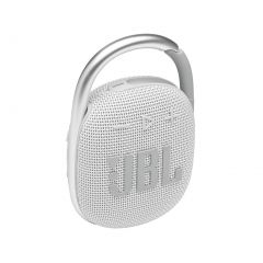 JBL Clip 4 Portable Wireless Bluetooth Speaker - White