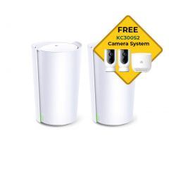 TP-Link Deco X90(2-pack) AX6600 Wi-Fi System Bonus  Wireless Camera 2 Pack Systems